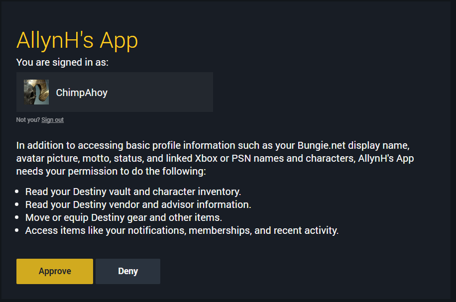 Authorise your app.