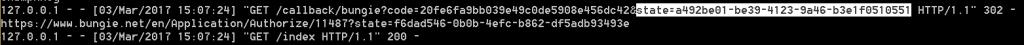 State parameter in callback.