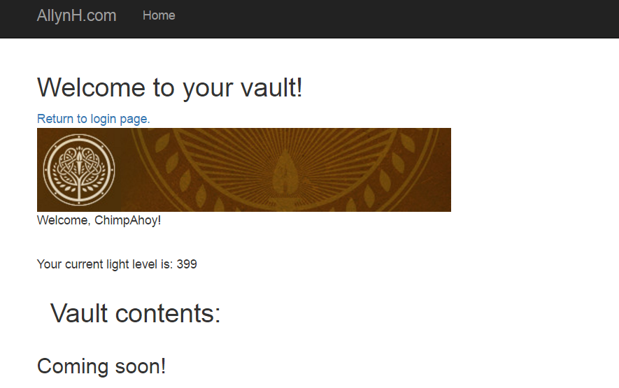 Welcome to your vault - yet to be finished.