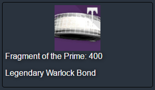 WOOT Fragment of the Prime!